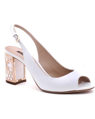 Белые босоножки на каблуке Norma J.baker