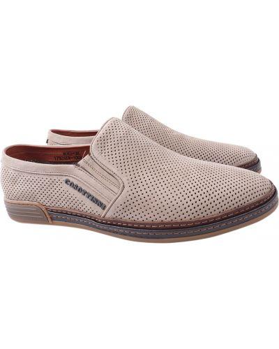 Кожаные туфли - серые Cosottinni