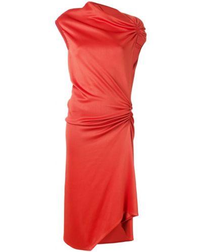 Зауженное платье миди - красное Narciso Rodriguez