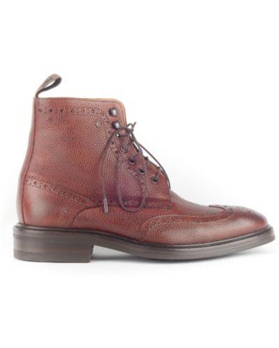 Brązowe ankle boots Van Bommel