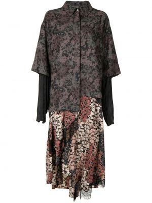 Платье макси длинное - серое Goen.j