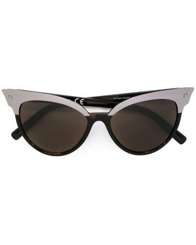 Солнцезащитные очки кошачий глаз серебряный Dsquared2 Eyewear