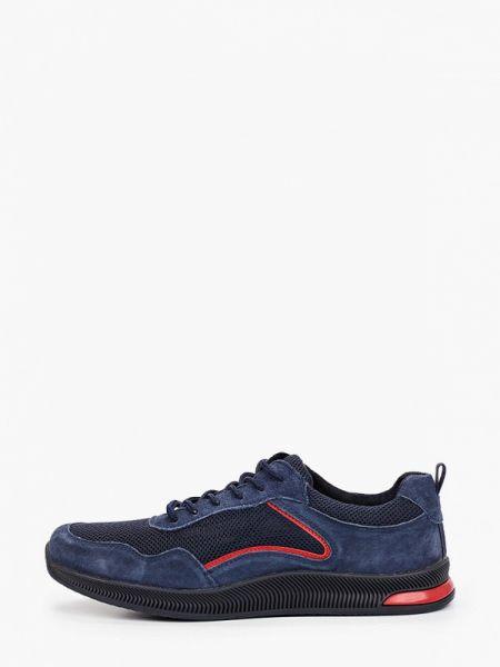 Синие текстильные кроссовки Berten