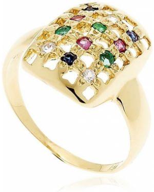 Niebieski złoty pierścionek szmaragd Margova Jewellery