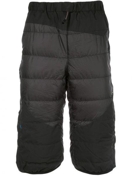 Черные короткие шорты на резинке свободного кроя Klättermusen