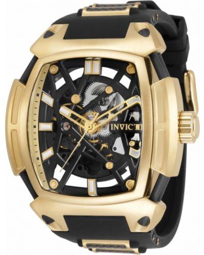 Черные силиконовые часы Invicta