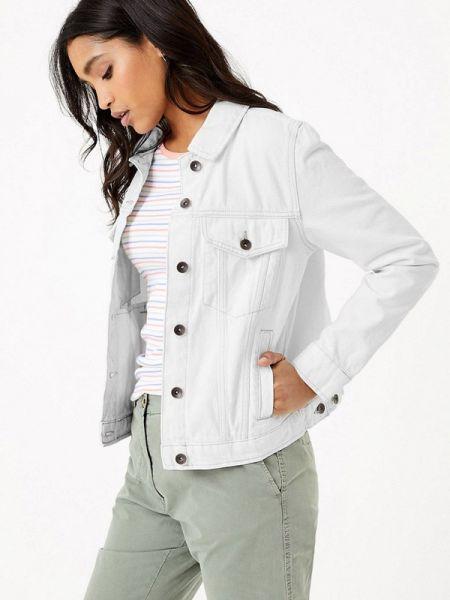 Джинсовая куртка весенняя белая Marks & Spencer