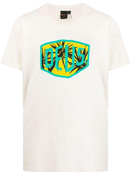 Koszula krótkie z krótkim rękawem prosto z nadrukiem Deus Ex Machina