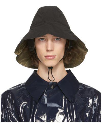 Ciepły czarny kapelusz bawełniany Kassl Editions