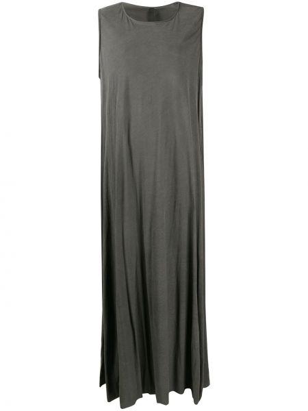 Серое платье макси трапеция без рукавов Poème Bohèmien
