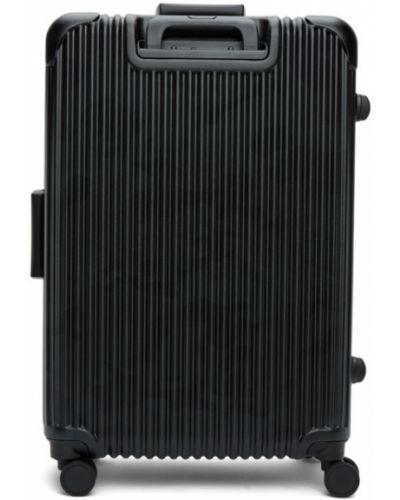 Z rękawami czarny walizka prążkowany na hakach Master-piece Co