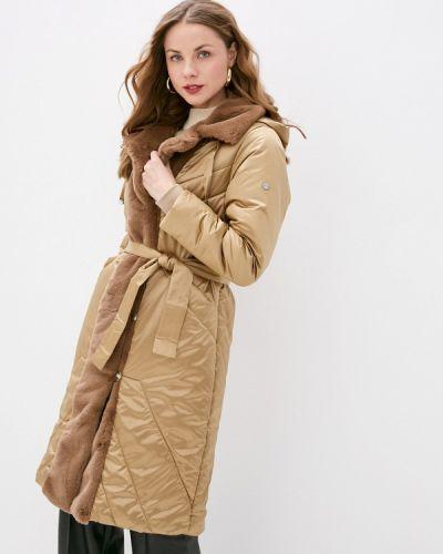 Бежевая утепленная куртка D`imma