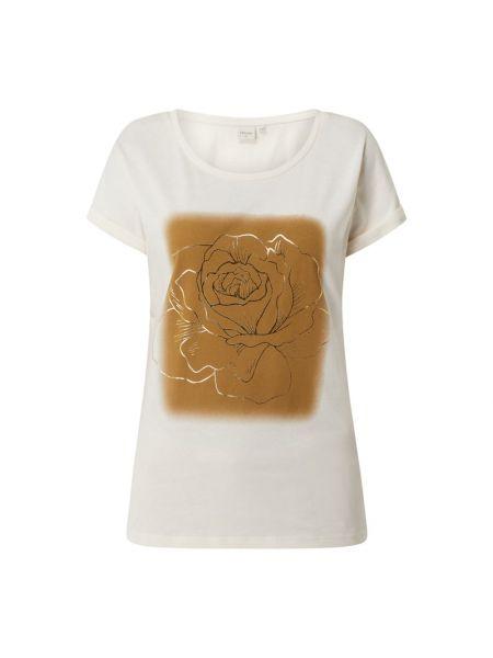 Bluzka z nadrukiem z printem - biała Cream