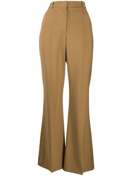 Деловые расклешенные шерстяные брюки Joseph