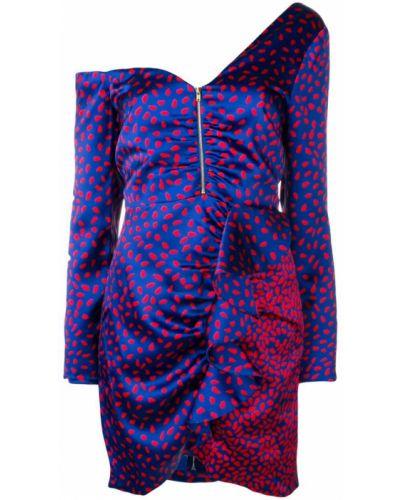 Платье с принтом со спущенными плечами Self-portrait