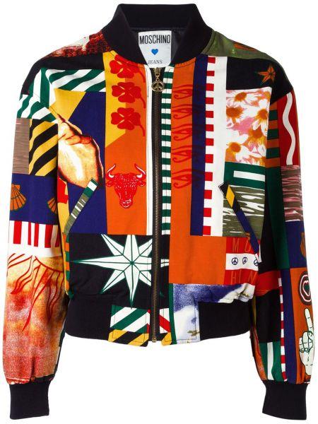 Куртка с манжетами пэчворк Moschino Pre-owned
