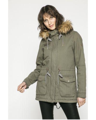 Утепленная куртка с капюшоном с мехом Only
