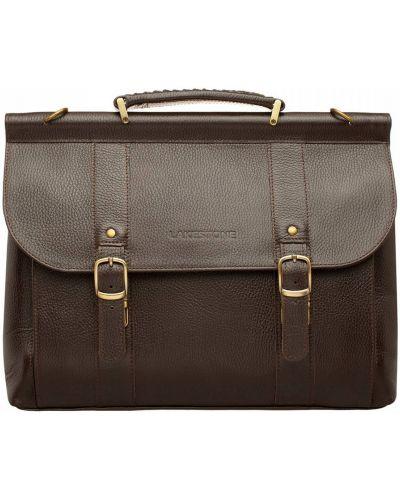Коричневый портфель винтажный Lakestone