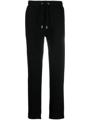 Хлопковые черные спортивные брюки эластичные Karl Lagerfeld