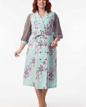 Платье с поясом на пуговицах платье-сарафан Wisell