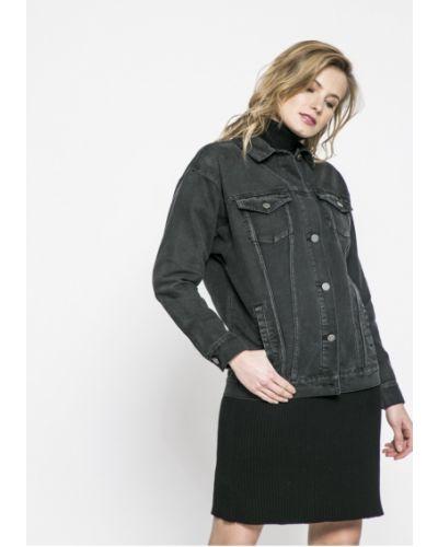 Джинсовая куртка в полоску облегченная Noisy May