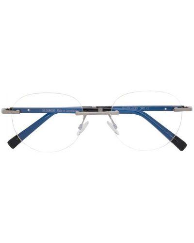 Черные очки круглые металлические Gold And Wood