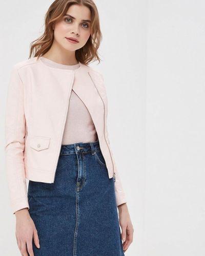 Кожаная куртка весенняя розовый Z-design