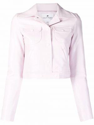 Różowa kurtka bawełniana Courreges