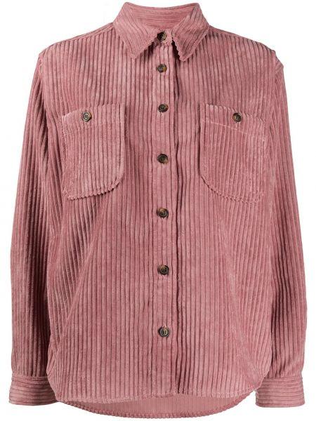 Klasyczna różowa klasyczna koszula z długimi rękawami Isabel Marant Etoile