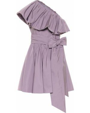 Платье мини коктейльное через плечо Valentino