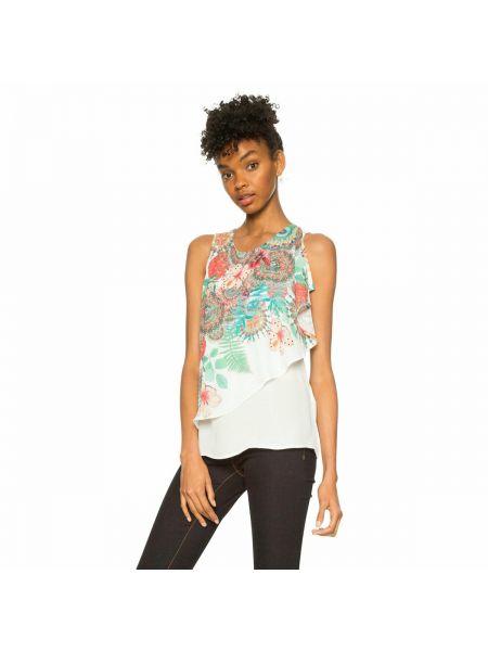 Блузка без рукавов с вырезом с рисунком Desigual