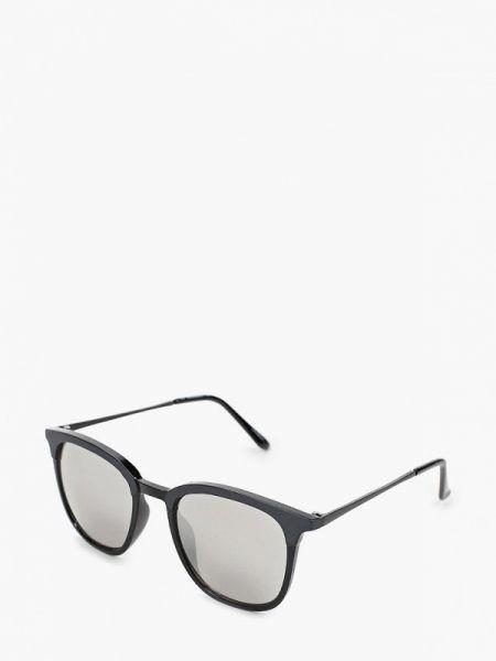Солнцезащитные очки черные круглые Jack & Jones