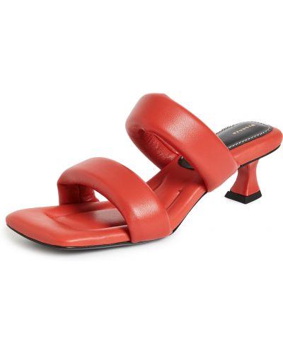 Sandały skorzane peep toe Proenza Schouler