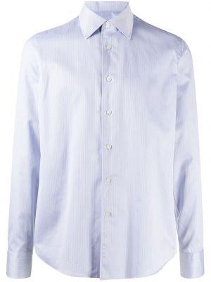 Синяя рубашка с воротником с манжетами на пуговицах Dell'oglio