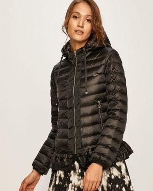 Прямая черная стеганая куртка Liu Jo