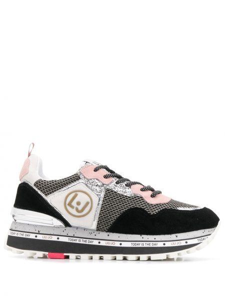 Кожаные кроссовки с логотипом на шнуровке Liu Jo