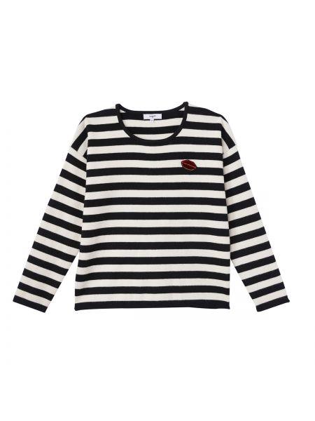 Пуловер из вискозы в полоску Suncoo