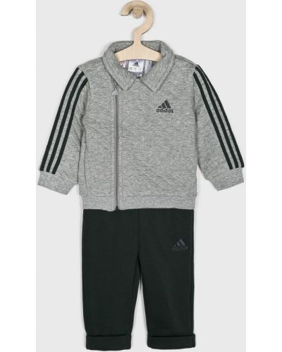 Серый спортивный костюм трикотажный Adidas Performance