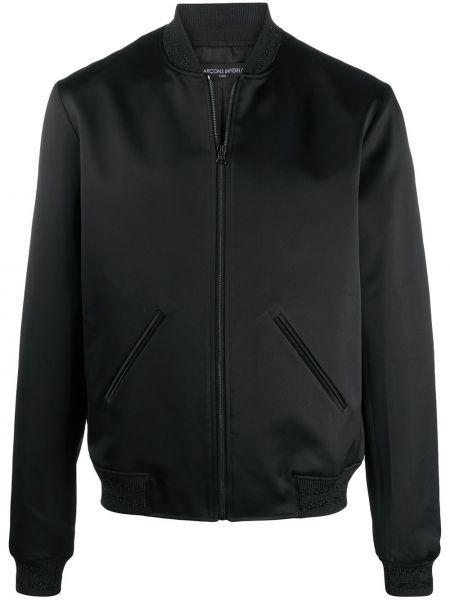 Czarna długa kurtka z długimi rękawami z wiskozy Garçons Infideles