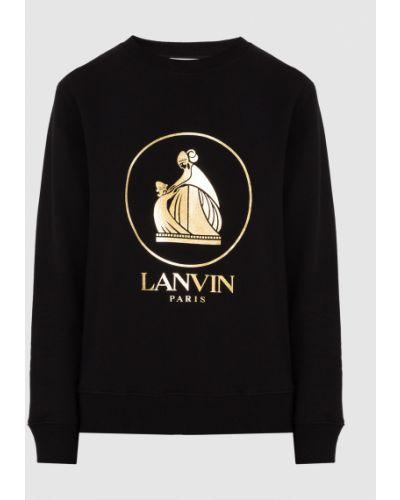 Свитшот с принтом - черный Lanvin