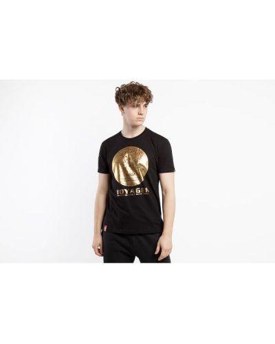 T-shirt bawełniana - czarna Alpha Industries