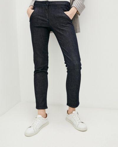 Расклешенные синие широкие джинсы Trussardi