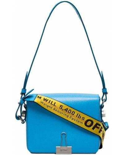 Синяя кожаный сумка Off-white