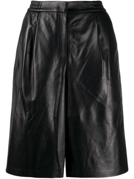 Черные шорты с карманами из овчины Juun.j