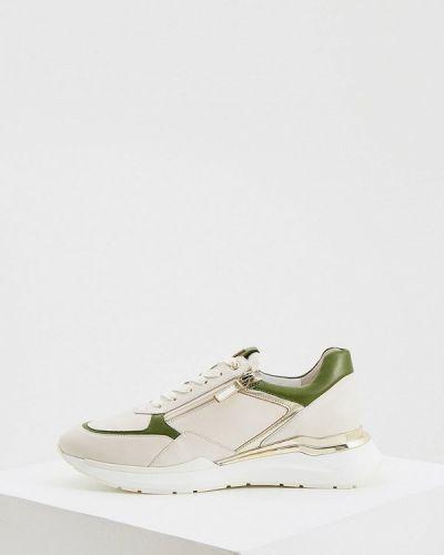 Бежевые кожаные кроссовки Hogl