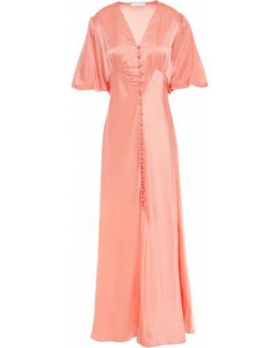 Шелковое платье макси - оранжевое Olivia Von Halle