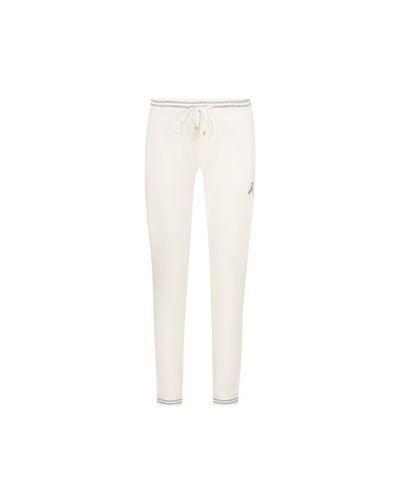 Хлопковые белые спортивные брюки Patrizia Pepe