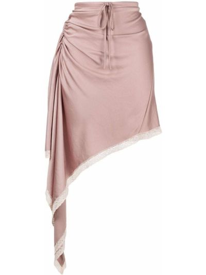 Koronkowa beżowy asymetryczny spódnica T By Alexander Wang