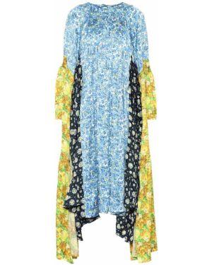 Платье миди деловое с цветочным принтом Vetements