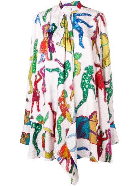 Шелковое платье макси - розовое Stella Mccartney